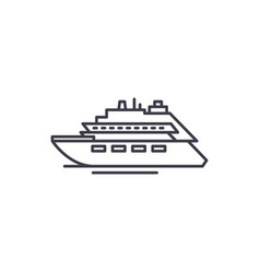 luxury yacht line icon concept luxury yacht vector image