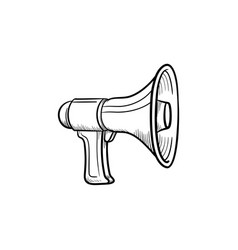 megaphone hand drawn outline doodle icon vector image
