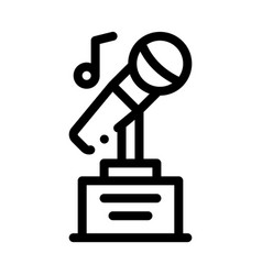 Microphone equipment for singing songs icon vector