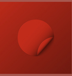 Modern red circle sticker with shadow vector