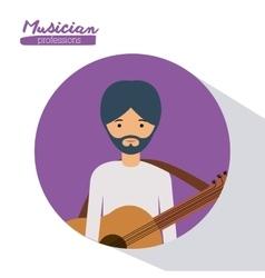 Musician man design vector