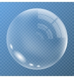 New bubble with glare vector