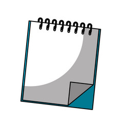 Note book isolated icon vector