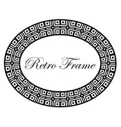 oval ornamental art deco frame vector image