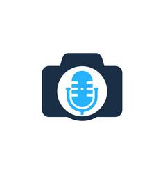 photo podcast logo icon design vector image