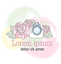 Photographer logo color vector
