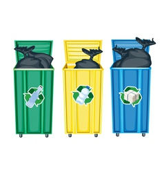 Recycling Dustbins vector image