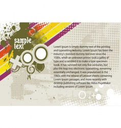 sample text grunge background vector image