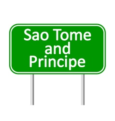 Sao Tome and Principe road sign vector