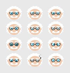 Set cute scientist emoticons vector