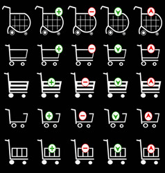Shopping basket set - online shopping cart vector