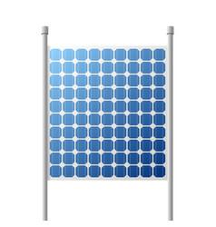 Solar panels outdoor suare building vector