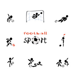 Sports game of football vector