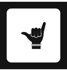 Surfers shaka sign icon simple style vector image