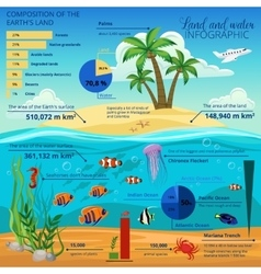 Underwater World Island Infographic vector image