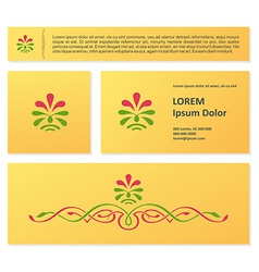 Vintage floral business card design vector