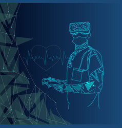 virtual reality for medical sciences vector image