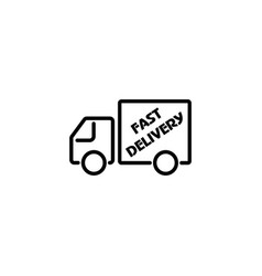 web line icon fast delivery black on white vector image