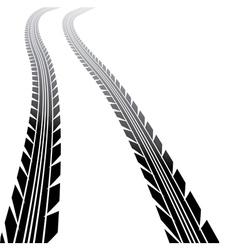 Wheel tracks vector image vector image