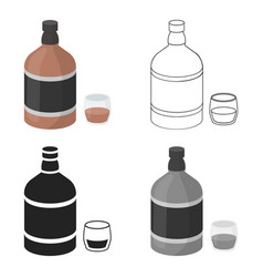 whiskey icon in cartoon style isolated on white vector image