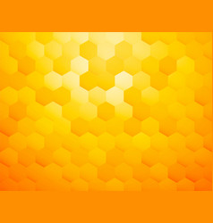 yellow hexagon abstract background vector image