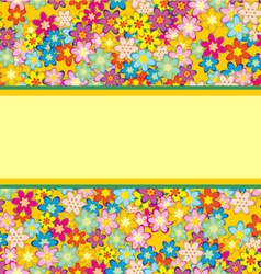 colorful flowers pattern vector image