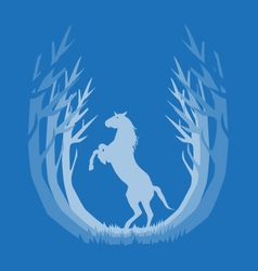 deep in the forest horse vector image