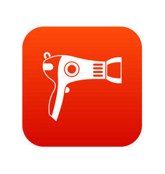 hairdryer icon digital red vector image