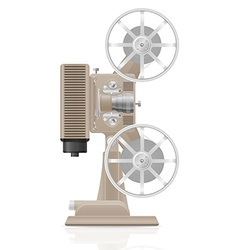 old retro movie film projector 02 vector image vector image