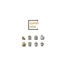 simple color coffee icon vector image