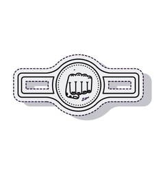 belt boxing isolated icon vector image
