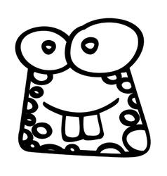 Cute toad funny character vector