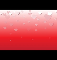 Falling Heart Red Background vector image vector image