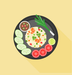 fried rice in thai style vector image