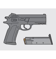 Gun and magazine vector image vector image