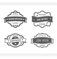 Set of wedding invitation vector image vector image