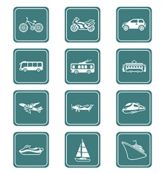 transportation icons | teal series vector image vector image