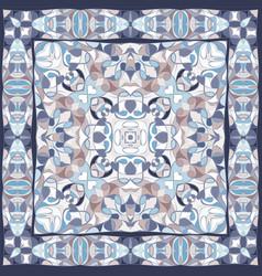 blue colored handkerchief vector image vector image
