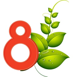Eight leaves vector image vector image