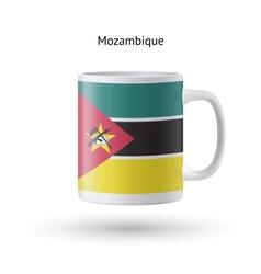 Mozambique flag souvenir mug on white background vector image vector image