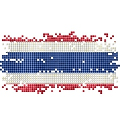 Thailand grunge tile flag vector image vector image