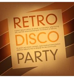 disco party flayer design template vector image vector image