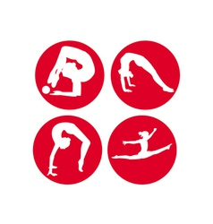 four gymnasts vector image vector image
