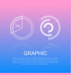 graphic round diagrams with and without percents vector image