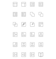 Line icons 3 vector