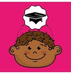 student boy study icon vector image vector image