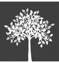 white tree silhouette vector image vector image