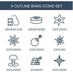 9 bang icons vector