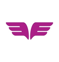 A pair of purple wings icon simple style vector image