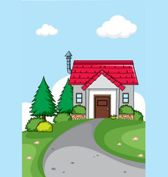a simple house background vector image